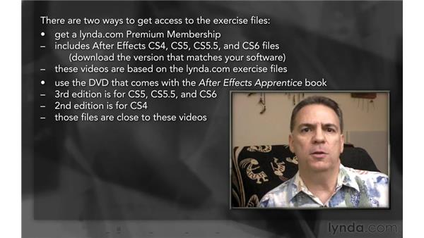 Using the exercise files: After Effects Apprentice 06: Type and Music