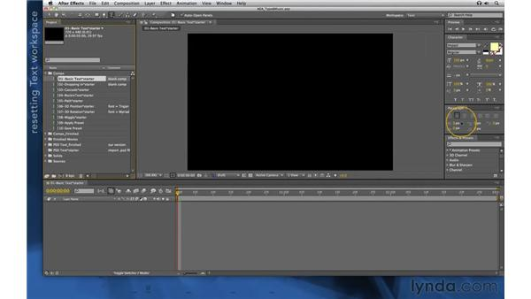 Setting up: After Effects Apprentice 06: Type and Music