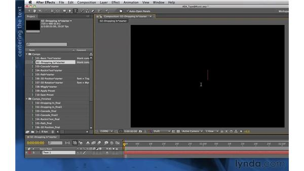 Setting a title: After Effects Apprentice 06: Type and Music