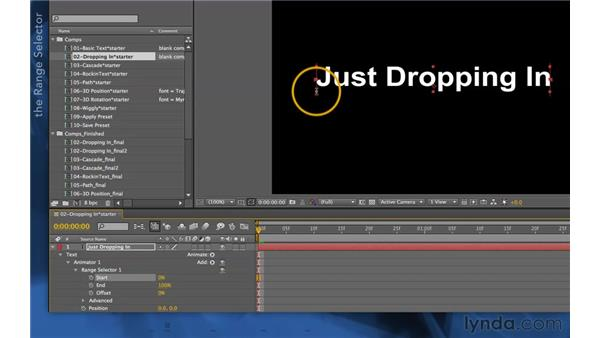 Creating a text animator: After Effects Apprentice 06: Type and Music
