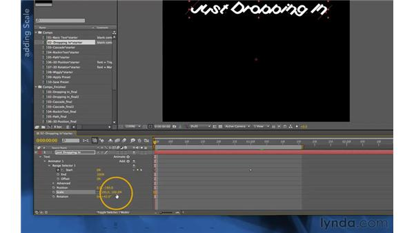Animating more properties: After Effects Apprentice 06: Type and Music