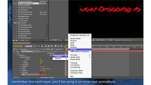 Exploring text transitions: After Effects Apprentice 06: Type and Music