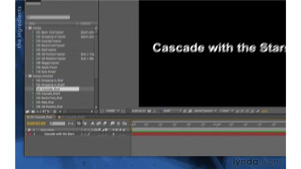 The Cascade recipe: After Effects Apprentice 06: Type and Music