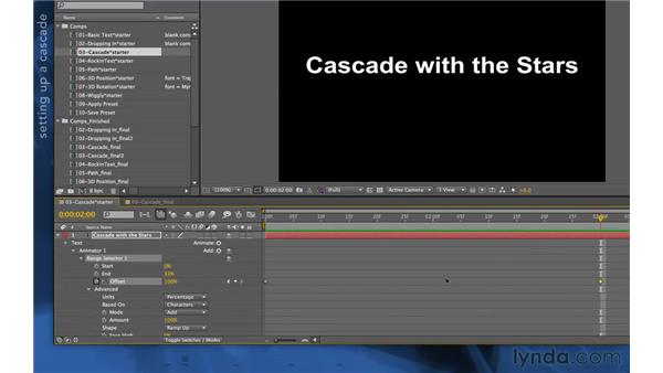Using character anchor points: After Effects Apprentice 06: Type and Music