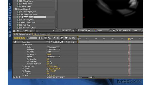 Further refinements: After Effects Apprentice 06: Type and Music