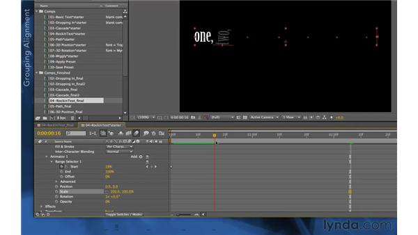 Anchor point grouping: After Effects Apprentice 06: Type and Music