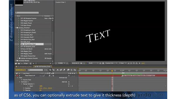 Per-character 3D overview: After Effects Apprentice 06: Type and Music