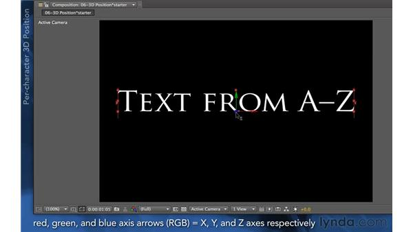 Enabling per-character 3D: After Effects Apprentice 06: Type and Music