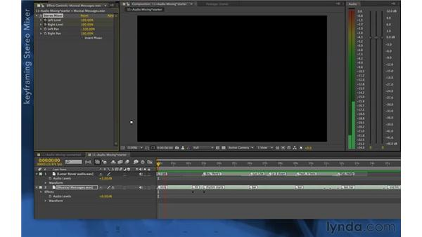 Mixing audio: After Effects Apprentice 06: Type and Music