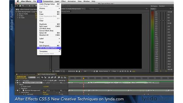 Exploring audio refinements: After Effects Apprentice 06: Type and Music