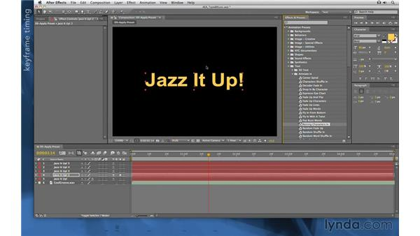 Browsing presets in Bridge: After Effects Apprentice 06: Type and Music