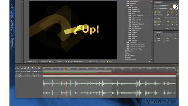 Editing presets: After Effects Apprentice 06: Type and Music
