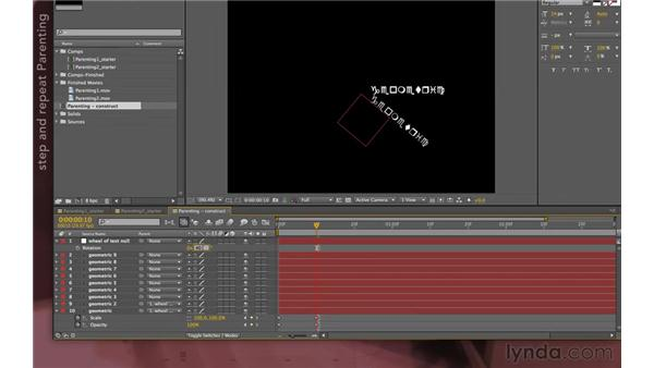 Working with geometric constructs: After Effects Apprentice 07: Parenting
