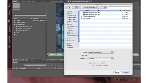 Preparing files: After Effects Apprentice 07: Parenting