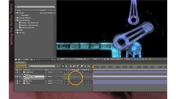Building the parenting chain: After Effects Apprentice 07: Parenting
