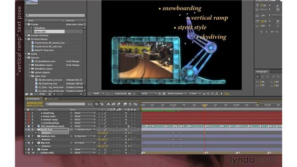 Animating the arm: After Effects Apprentice 07: Parenting