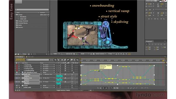 RoboTV: Keyframe interpolation: After Effects Apprentice 07: Parenting