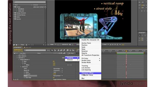 RoboTV: Text animation: After Effects Apprentice 07: Parenting