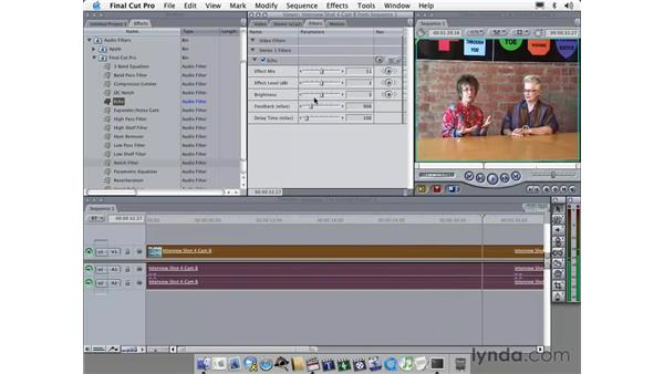 audio features: Learning Final Cut Pro 4