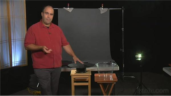 Working with turntables, tanks, and backdrops: Practical Motion Background Workshop