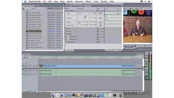 using keyframes: Learning Final Cut Pro 4