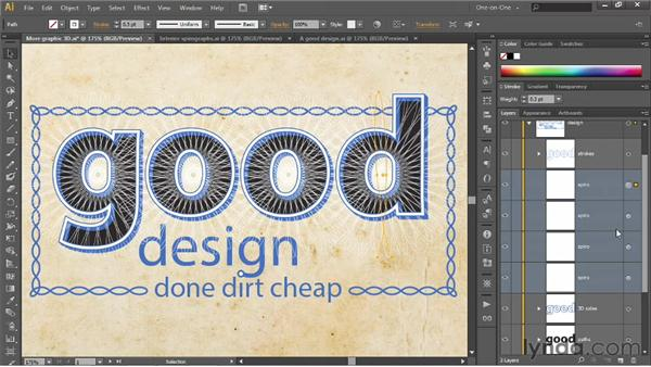 Creating clipping groups: Illustrator CS6 One-on-One: Intermediate