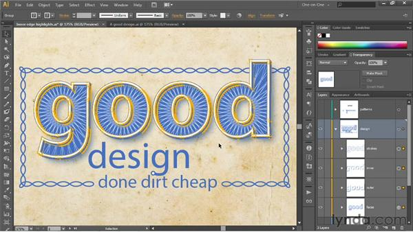 Applying effects to groups and layers: Illustrator CS6 One-on-One: Intermediate
