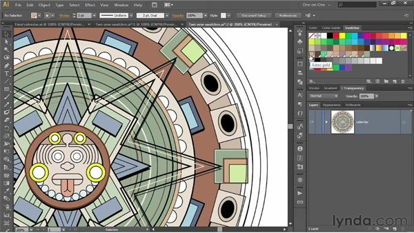 Creating and using global swatches: Illustrator CS6 One-on-One: Intermediate