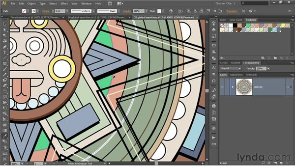 Assigning and eyedropping colors: Illustrator CS6 One-on-One: Intermediate