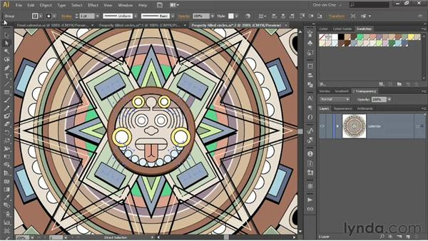 Assigning colors to paths inside groups: Illustrator CS6 One-on-One: Intermediate