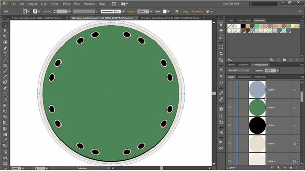 Adjusting the stacking order: Illustrator CS6 One-on-One: Intermediate