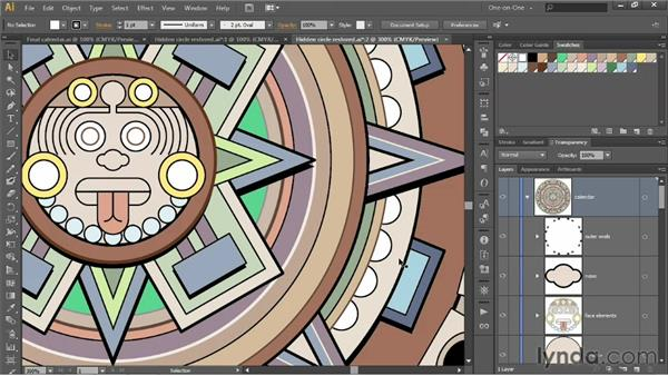 Pasting in front and in back: Illustrator CS6 One-on-One: Intermediate