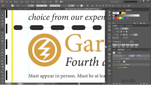 Combining dashes with round caps: Illustrator CS6 One-on-One: Intermediate
