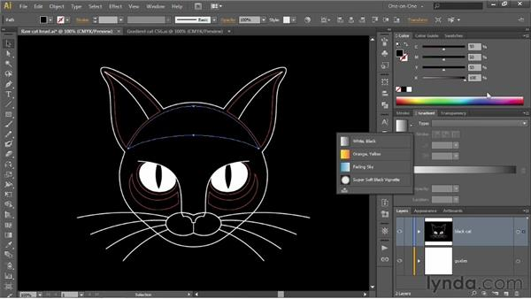 Assigning and modifying a gradient fill: Illustrator CS6 One-on-One: Intermediate