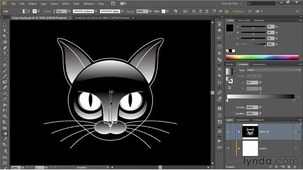 Using the Gradient tool and annotator: Illustrator CS6 One-on-One: Intermediate