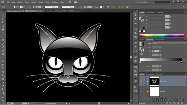 Editing multiple gradients at a time: Illustrator CS6 One-on-One: Intermediate