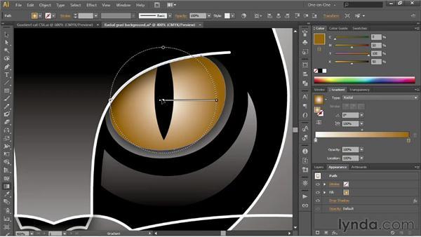 Adjusting the midpoint skew: Illustrator CS6 One-on-One: Intermediate