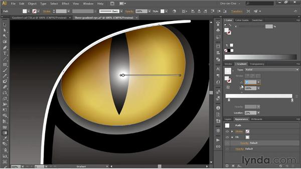 Adding transparency to a gradient: Illustrator CS6 One-on-One: Intermediate