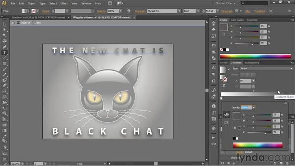 Assigning a gradient to editable text: Illustrator CS6 One-on-One: Intermediate