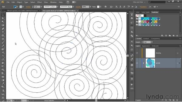 Assembling the raw ingredients for a pattern: Illustrator CS6 One-on-One: Intermediate