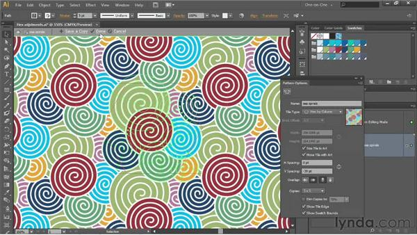 Creating a new pattern based on an existing one: Illustrator CS6 One-on-One: Intermediate
