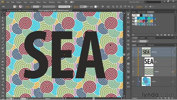 Applying patterns to strokes and text: Illustrator CS6 One-on-One: Intermediate