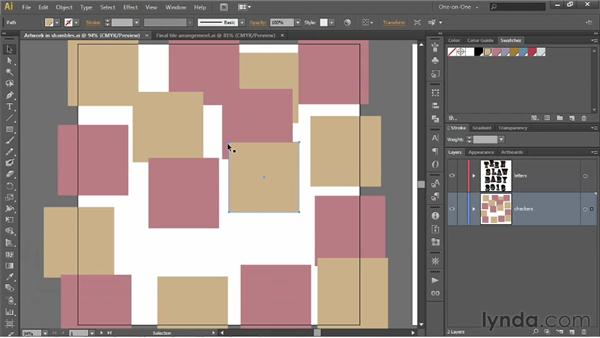 Snapping one anchor point to another: Illustrator CS6 One-on-One: Intermediate
