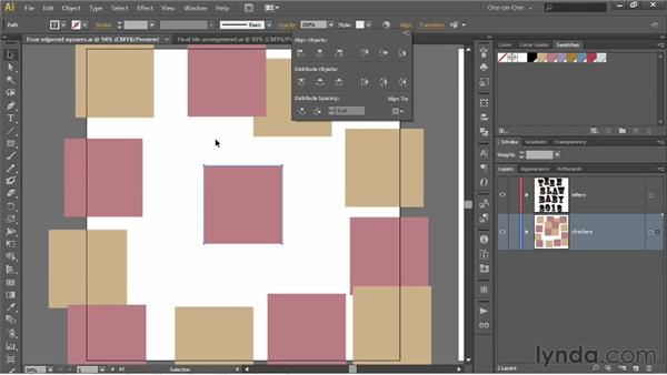 Aligning a group to the artboard: Illustrator CS6 One-on-One: Intermediate