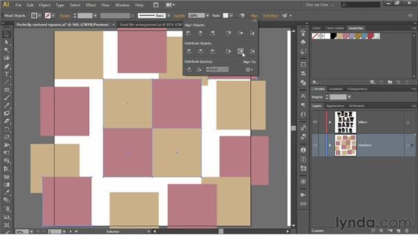 Distributing objects across the artboard: Illustrator CS6 One-on-One: Intermediate
