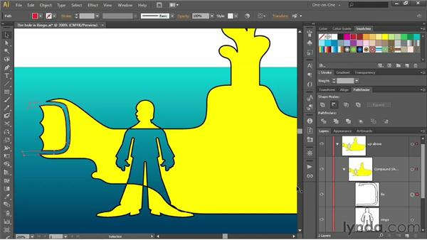 Adding to a compound shape: Illustrator CS6 One-on-One: Intermediate