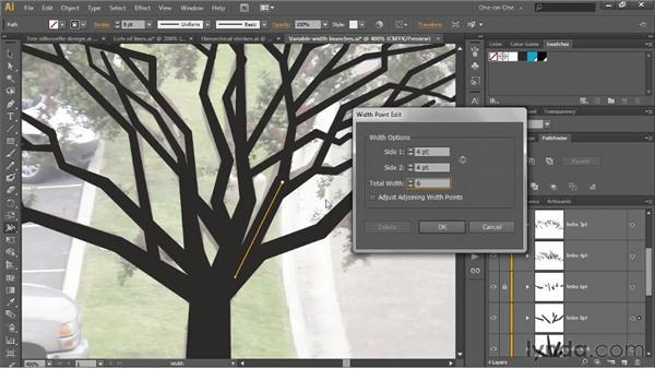 Variable width, Outline Stroke, and Unite: Illustrator CS6 One-on-One: Intermediate