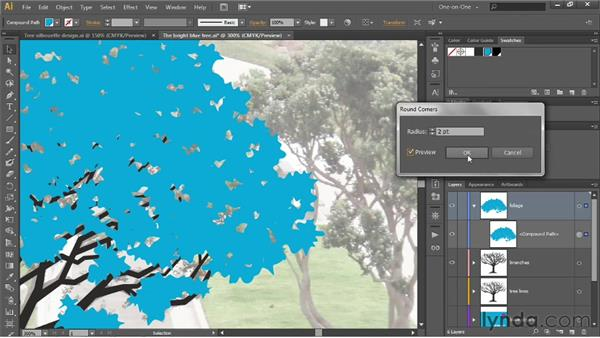 Creating credible leaves with dynamic effects: Illustrator CS6 One-on-One: Intermediate