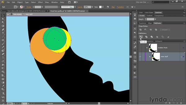 Using Divide and Minus Back: Illustrator CS6 One-on-One: Intermediate