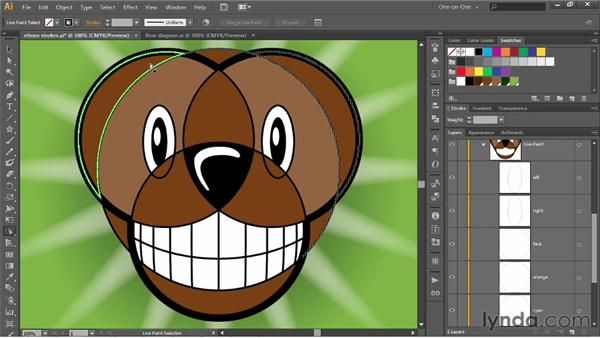 Adding paths to a Live Paint object: Illustrator CS6 One-on-One: Intermediate